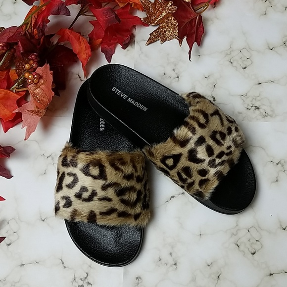 2530e85ceb0 🚨NEW LIST! Steve Madden 'Sateena' Leopard Sandals NWT